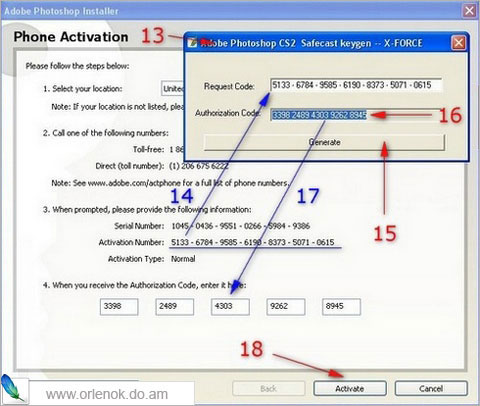 Activate photoshop cs2 activation code